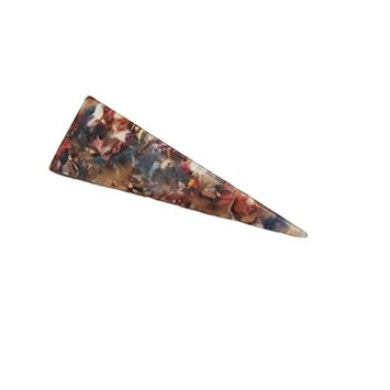Sinarre Hair Pins Hair Barrette Single Prong Alligator Hair Clip with Triangle for Women Girls(J07)(red)