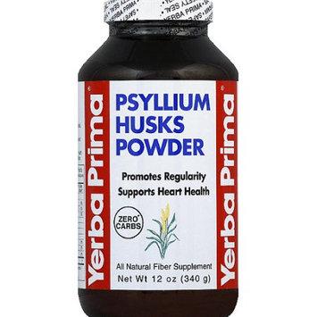 Yerba Prima Psyllium Husks Powder All Natural Fiber Supplement, 12 oz