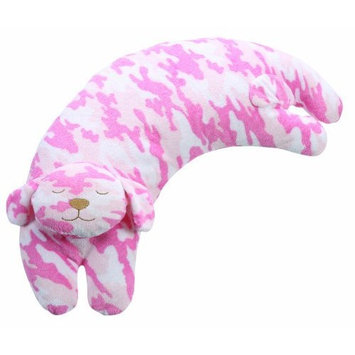 Angel Dear Curved Pillow, Pink Camo Puppy