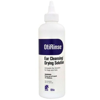 DVM OtiRinse Cleansing/Drying Ear solution [Options : 8 oz]