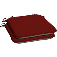 Arden Companies Arden Outdoors Snap Dry Fast-Drying Outdoor Seat Pad with Welt, Set of Two, Red Rib Woven