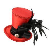 Homyl Wedding Church Party Mini Top Hat Heradband 20s Gatsby Fascinator Headpiece