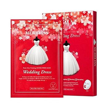 [MERBLISS] Wedding Dress Ruby Ultra Vitalizing Micro-Fiber Mask 27g, Pack of 5: Beauty