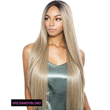 BS295 (1 Jet Black) - Mane Concept ISIS Brown Sugar Human Hair Blend Swiss Lace Front Wig