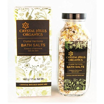 Crystal Hills Organics Bath Salts Crystal Harmony Green Quartz