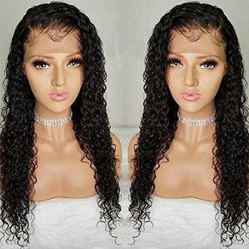 Pre Plucked Lace Front Wigs with Baby Hair Curly Hair Full Lace Wigs for Black Women Brazilian Virgin Human Hair Wigs (18 inch Lace Front Wig, 130% Density)