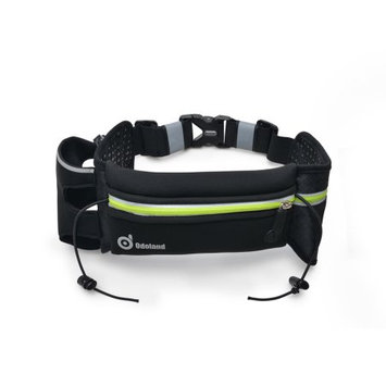 ODOLAND Sport Running Belt Extra Extension Belt w/ One Water Bottle Holder + Large Pouch