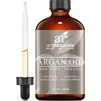 ArtNaturals Pure Morrocan Argan Oil - 4 oz - for Hair, Face & Skin - Grade A Triple Extra Virgin Cold Pressed From The kernels of the Argan Tree - The Anti Aging, Anti Wrinkle Beauty Secret [Argan (Argania spinosa) Oil]