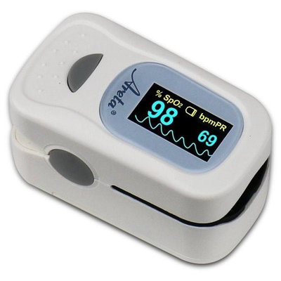 Easy At Home Easy@Home Areta Fingertip Pulse Oximeter with Dual-color OLED Display in 4 Directions, 8 Modes