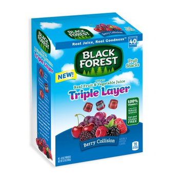 Black Forest Triple Layer Fruit Flavored Snacks, Berry Collision, 0.8 Ounce Bag, Pack of 40