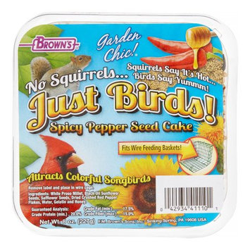 Fm Browns Sons Inc Brown's Garden Chic! Spicy Pepper Seed Cake Bird Food, 8 Oz