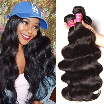 Nadula Hair 8a Best Quality Brazilian Body Wave Virgin Hair Extensions 3 Bundles 16 16 18 Brazilian Wavy Unprocessed Human Hair Weave Natural Color