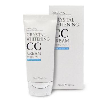 3W Clinic Crystal Whitening CC Cream 1.76Oz SPF50+/PA+++ Moisturing Wrinkle Care