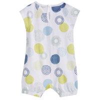 Baby Girls Geometric Dot-Print Cotton Romper, Created for Macy's