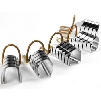 10PC nail art silver foil reusable acrylic UV gel forms shape french false