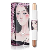 HML Professional Contour and Highlighting Makeup Stick Face Foundation / Concealer Stick Contouring Face Foundation Cosmetics Double-ended with Gloss Matte Stick
