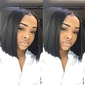 Straight Black Short Bob Wig Middle Part Synthetic Wig Wigs For Black Women