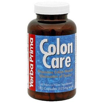 Yerba Prima Colon Care All Natural Fiber Supplement Capsules, 180 count