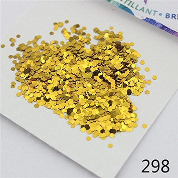 298 1mm Glitter Golden Series Nail Body Eye Shadow Craft