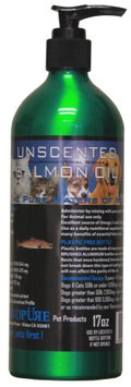 Iceland Pure Unscented Pharmaceutical Grade Salmon Oil For Dogs and Cats. Bottle Size 17oz