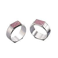Elegance Pink Glitter Napkin Rings, Pair