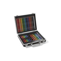 Newell Rubbermaid Paper Mate Doodling Kit with Flair Felt Pens, InkJoy Gel Pens, Colored Pencils and Coloring Booklet, Hard Case, 33 Count