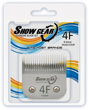 Show Gear #4F Clipper Blade 9.5mm Dog & Pet Grooming Professional in Silver