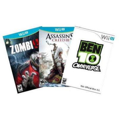 Alliance Distributors Nintendo WiiU Action Value Pack with 3 games (Wii U)