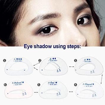 Eyeliner Stencil 6pcs,Eyes Eyebrows Template Card Models Template Shaper Makeup Tool(clear)