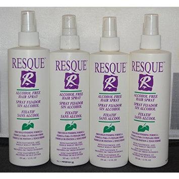 Resque Alcohol Free Hair Spray 12 oz (4 Pack)