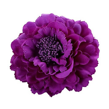 DZT1968 Women Girl 28 colors Flower Peony Hair Clips gorgeous Wedding Bridal Bridesmaid Prom Festival Hairpin Brooch