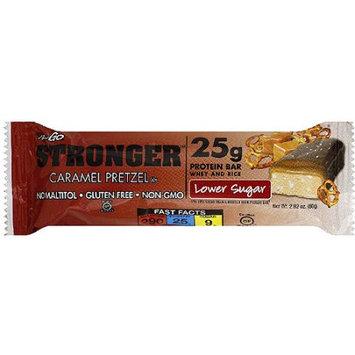 NuGo Stronger Lower Sugar Caramel Pretzel Protein Bar, 2.82 oz, (Pack of 12)