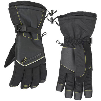 Men's Cold Front Thinsulate Hi-Tech Gloves with Zipper Pocket (Waterproof and Windproof)