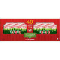 Ferrara Candy Company Brach's Bobs Red and White Peppermint Candy Canes, 40 Count Box