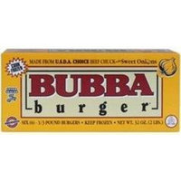 BUBBA BURGER BEEF CHUCK PATTIES SWEET ONION 32 OZ BOX PACK OF 2