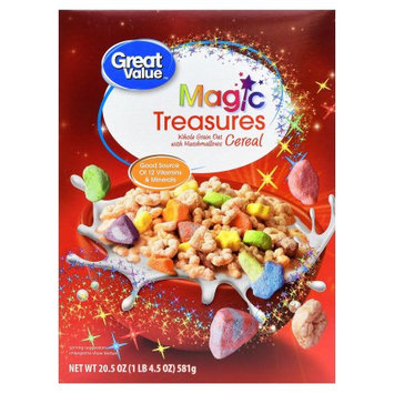 Wal-mart Store, Inc. Great Value Magic Treasures Cereal, 20.5 oz
