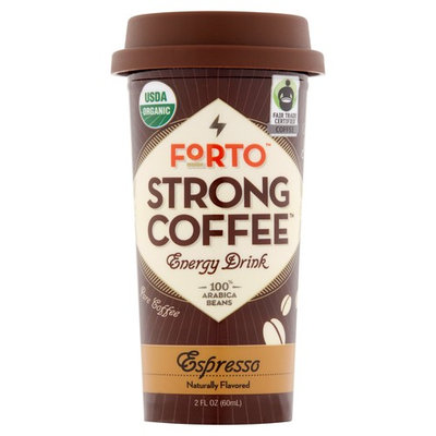 Forto Strong Coffee Espresso Energy Drink, 2 fl oz, 36 pack