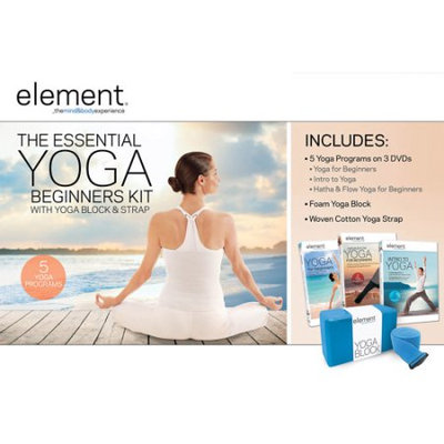Element Fitness Element: Stretch, Release and Restore Yoga Kit with Massage Roller Balls DVD/VUDU Kit