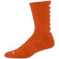 6090 Color Block Crew Sock - Youth ORANGE/WHITE 42560
