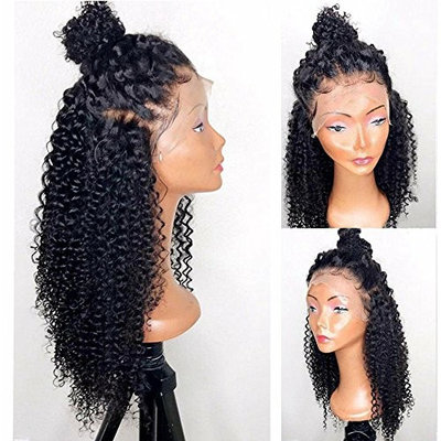 Rishang Hair 360 Lace Frontal Wig 180% Density Pre-Plucked Hairline 360 Lace Front Human Hair Wig Kinky Curly Hair Wig for Black Women (14 inch with 180 density, 360 Lace Frontal Wig)