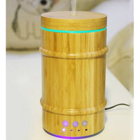 Estink Real Bamboo Wood Essential Oil Diffuser, 150mL Ultrasonic Aromatherapy Humidifier with 7 Colorful LED Lights and Waterless Auto Shut-off for Home Yoga Baby Room