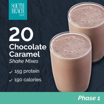 South Beach Diet Chocolate Carmel Shakes, 1.4 Oz packet, 20 Count