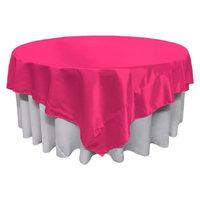 LA Linen TCbridal90x90-FuchsiaB49 Bridal Satin Square Tablecloth Fuchsia - 90 x 90 in.