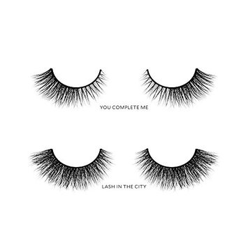 Velour Lashes - Round Eye Shape Kit (2 Pairs of Mink Lashes) - Fake/False Natural Eyelashes - Long Lasting 25+ Applications - Natural & Lightweight - Ethically Sourced - Easy Application