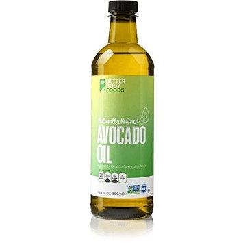 BetterBody Foods 100% Pure Avocado Oil Naturally Refined Cooking Oil Non-GMO 16.9 Ounce Keto & Paleo [Avocado Oil]