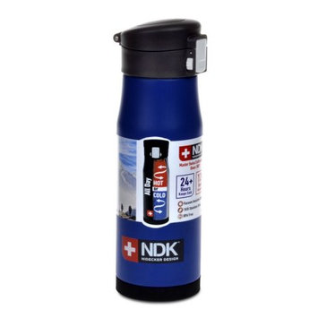 NDK Flip-Top Locking 18 oz. Vacuum Insulated Water Bottle in Blue