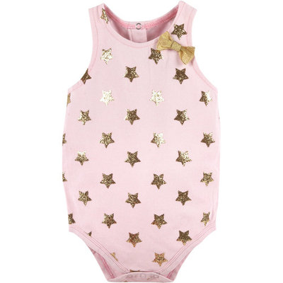 born Baby Girls' Bows and Glitter Bodysuit