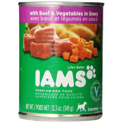 Iams ProActive Health Adult Chunks with Beef and Vegetables In Gravy