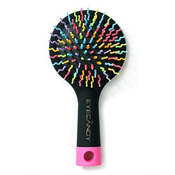 MAOYUAN Hot sale Hair Brush Comb with Mirror for Wet or Dry Hair – Detangling Brush for Kids & Adults - No Tangle Brush two color choose (black)