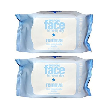Everyone Face Make-Up Removing Wipes With Papaya, Pineapple, Cucumber, Aloe and Chamomilla Extracts, 30 Count (Pack of 2)